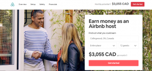 Are Ellicottville Airbnb revenues better than Collingwood Airbnb rental revenues.