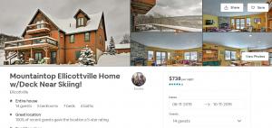 Ellicottville ski chalet for rent. Ellicottville short term rental on Airbnb.